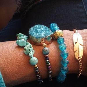 Jewelry - SOLD!!!Women's 4 piece Handmade bracelet set
